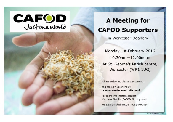 Poster for Worcester Deanery Meeting