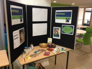 Fairtrade Stall with fairtrade goods at Newman University