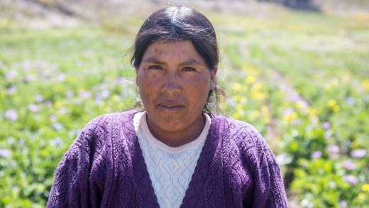 Nicanora is a Bolivian farmer.