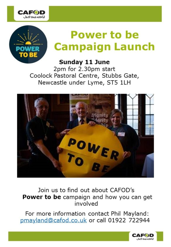Power to be event poster
