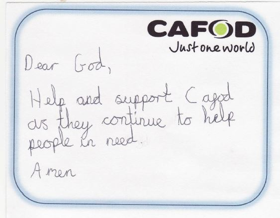 A Day in the Life of a CAFOD School Volunteer